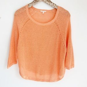 Eileen Fisher Linen Knit Coral Pullover Sweater